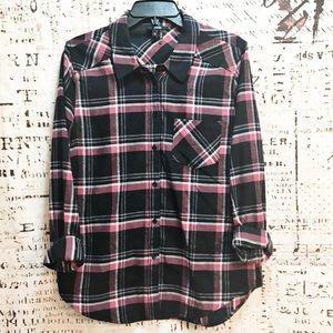 Tops - Paige Flannel Shirt Button Down Cotton Plaid